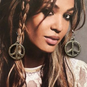 Peace Sign Hanging Earrings